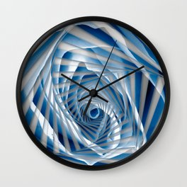 Blue Rose Spiral Wall Clock