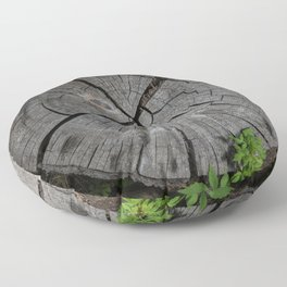 Dried out tree stump Floor Pillow