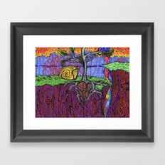 Garnet Dream Framed Art Print