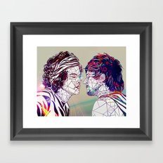 Geometric Larry Framed Art Print