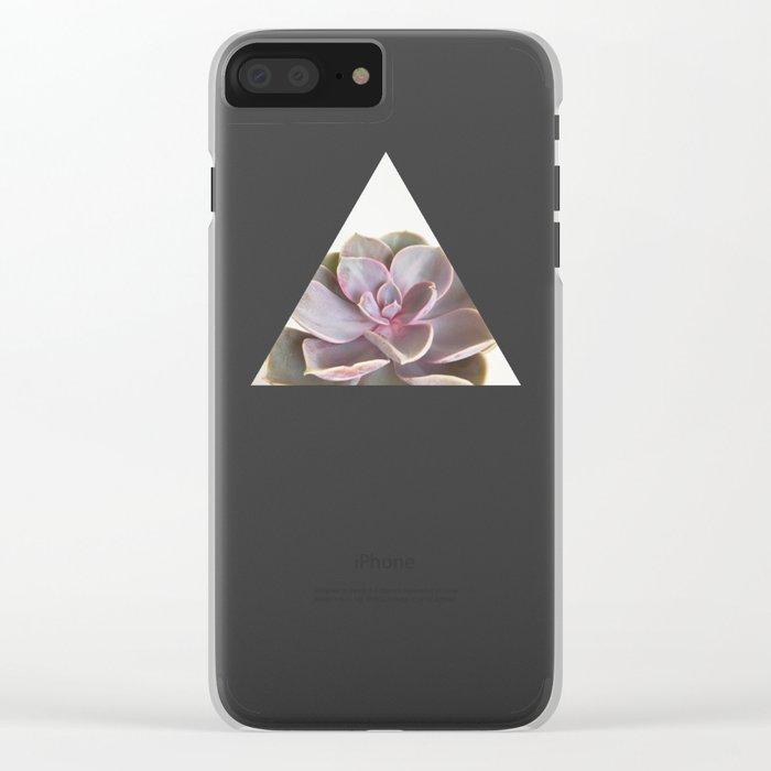 Purple Succulent Clear iPhone Case