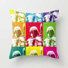 Boba Fett Popart Throw Pillow