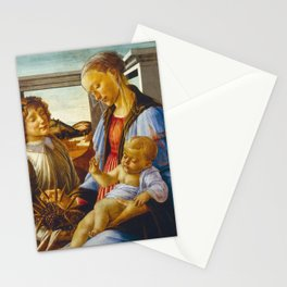 Botticelli  -  Virgin And Child With An Angel Stationery Cards