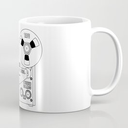Reel To Reel Line Drawing Coffee Mug