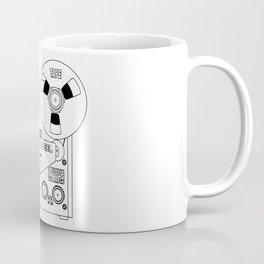 Reel To Reel Line Drawing Coffee Mug