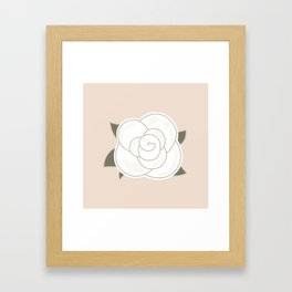White vintage rose. Vector Illustration Framed Art Print