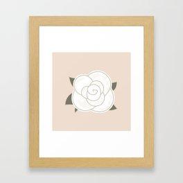 White vintage rose. Vector Illustration Framed Art Print