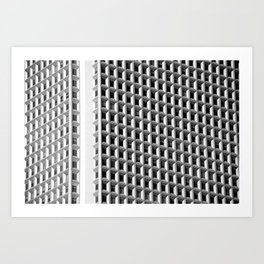 Urban Grid Art Print