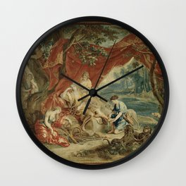 Resting Diana, from the Triumph of the Gods Wall Clock