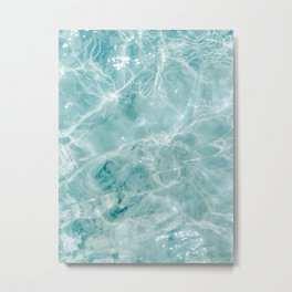 Clear blue water | Colorful ocean photography print | Turquoise sea Metal Print
