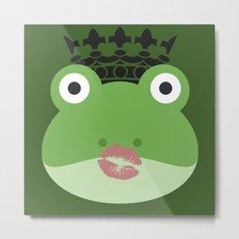Frog Kiss Metal Print
