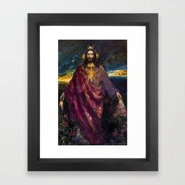 THE LIGHT OF THE WORLD Framed Art Print