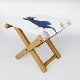 Peacock Head Folding Stool