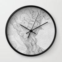 a lot of cats Wall Clocks featuring LOT by Da_Ricci