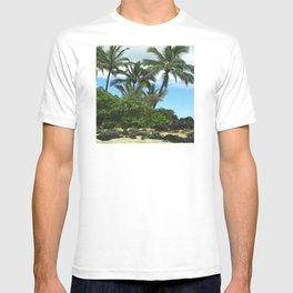 Tropical Hawaiian Beach in Pristine Paradise T-shirt