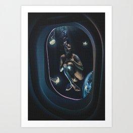 The Underwater Girl Art Print