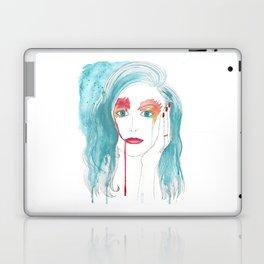 Crying girl. Laptop & iPad Skin