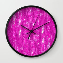 Subtle interweaving of smudges from pink lava and light chaotic cycle. Wall Clock