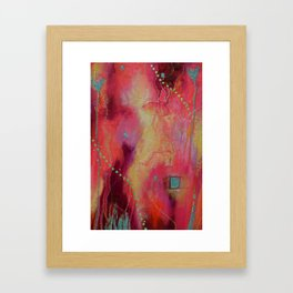 Happyland - caught in the storm Framed Art Print