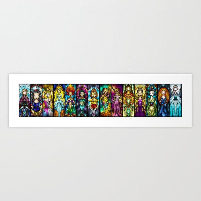 The Princesses Art Print
