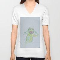 kermit V-neck T-shirts featuring bad portrait KERMIT by bad portraits