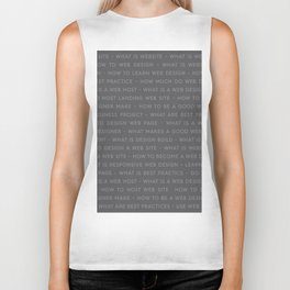 Web Design Keywords Poster. Strong Style. Biker Tank
