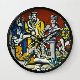 Man in the New Age by Fernand Leger Wall Clock