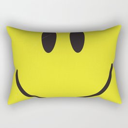 Acid house '91 vintage smiley face Rectangular Pillow