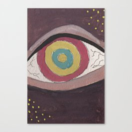 Right in the eye Canvas Print