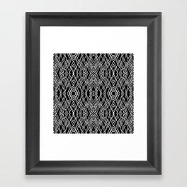 Art Deco Black and White Framed Art Print