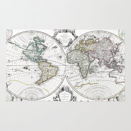 World map wall art 1632 dorm decor mappemonde Rug