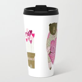 Bear with loveheart Travel Mug