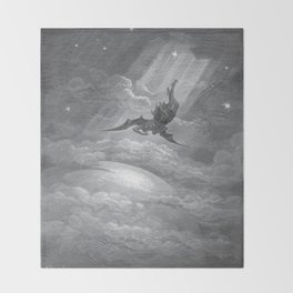 Gustave Dore: Paradise Lost XII Throw Blanket