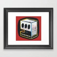Skullcub profil Framed Art Print