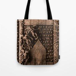 Cave Canem - Wall of Skulls (sepia) Tote Bag
