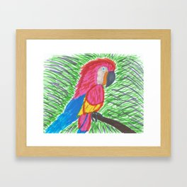 Pink Bird of Paradise Framed Art Print