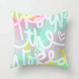 Around the World Throw Pillow