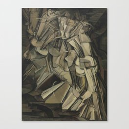 Marcel Duchamp's Nude Descending a Staircase, No. 2 Canvas Print