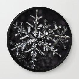 Two Snowflakes Wall Clock