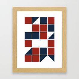 Patriotic shapes Framed Art Print