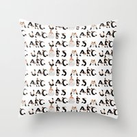 marc Throw Pillows featuring Marc Jacobs by cvrcak