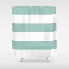 Maine Ocean Cabana Stripes Shower Curtain