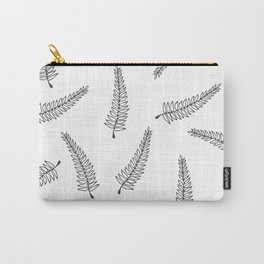 Branch Pattern White Carry-All Pouch
