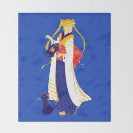 Geisha Moon Throw Blanket