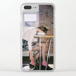 I Hate Monday Clear iPhone Case