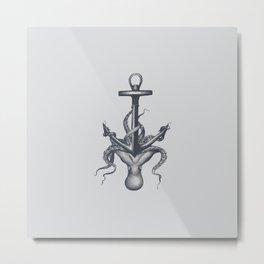 Sinking Anchor Metal Print