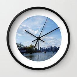 We #LOVE Toronto - Skyline from Toronto Islands, ON, Canada Wall Clock