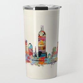Indianapolis Indiana skyline Travel Mug