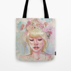 Watercolors and Floral Crowns Tote Bag
