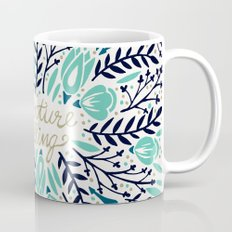 Adventure is Calling – Navy & Mint Palette Mug